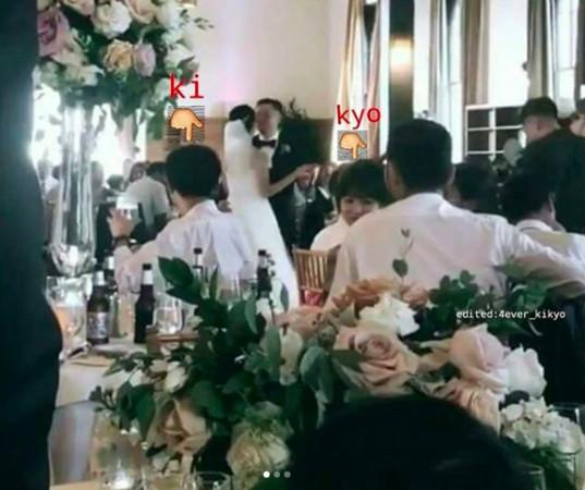 宋宋夫妻参加朋友婚礼被偶遇