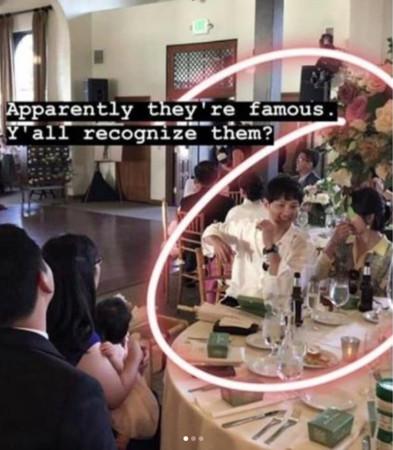 宋慧乔、宋仲基在婚礼有说有笑